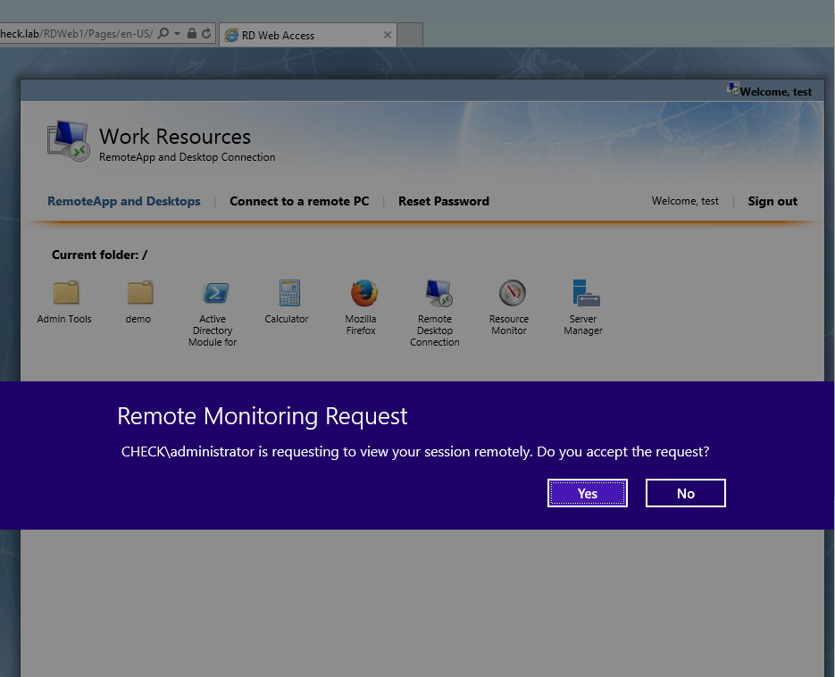 RDS 2012 R2 – User Support via Shadowing – Griffon's IT Library