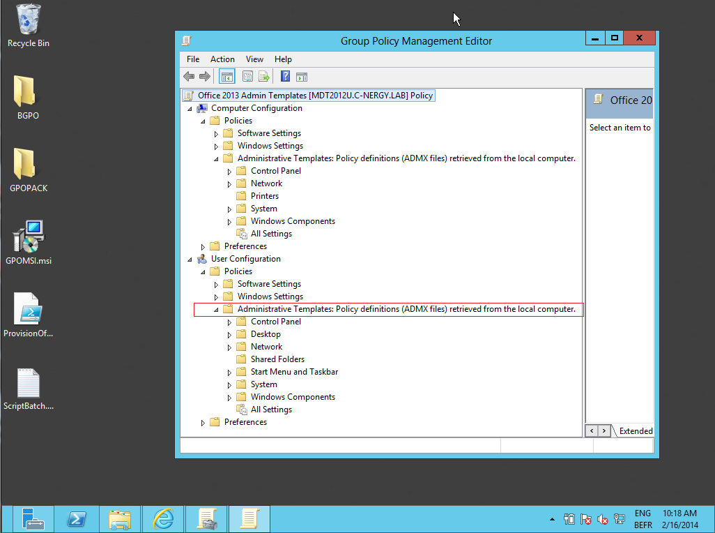 Group Policy Administrative Template files ADMX ADML