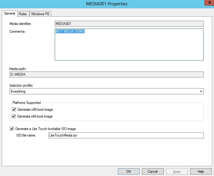 MDT 2012 – Create a Deployment Media – Griffon's IT Library