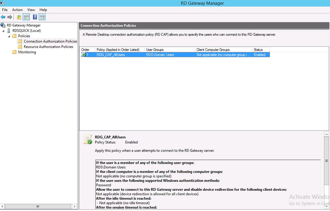 RDS – Remote Desktop Gateway – Part IX – Griffon's IT Library