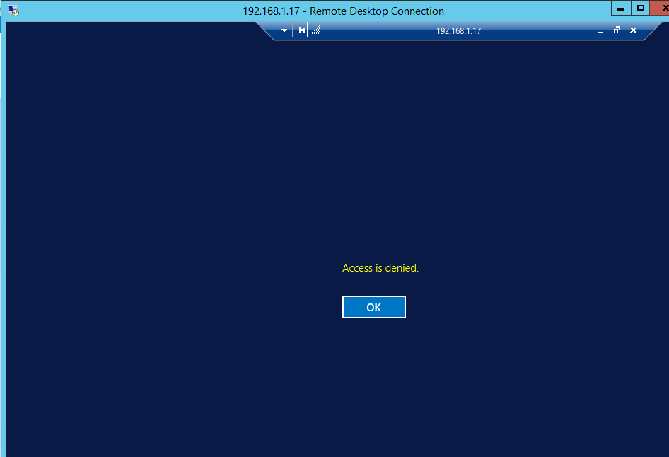 RDS 2012 R2 – Access is denied – Issue 4 – Griffon's IT Library