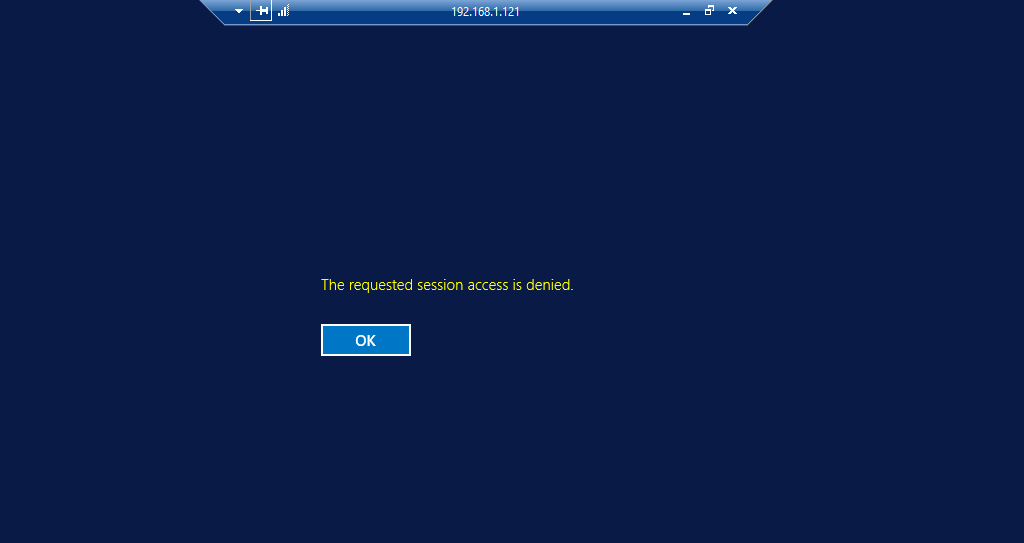 RDS 2012 R2 – Access is Denied While connecting – Issue 1
