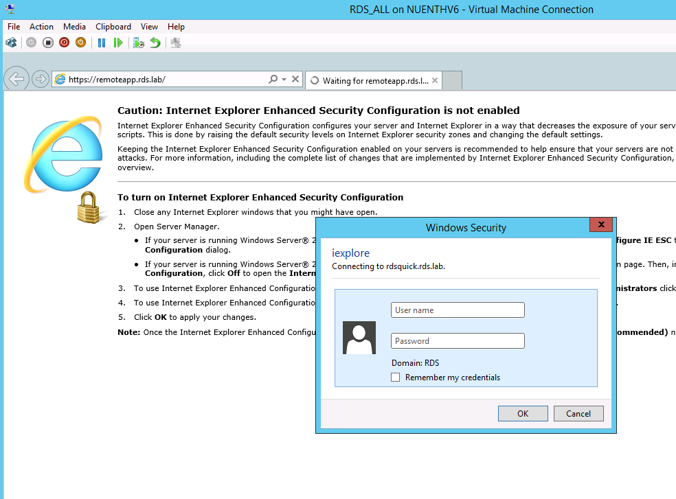 RDS – Configuring Windows Integrated Authentication (WIA) – PART VII