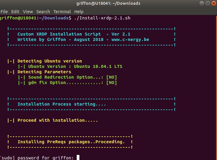xRDP – Perform a custom installation on Ubuntu 18 04 x – Griffon's