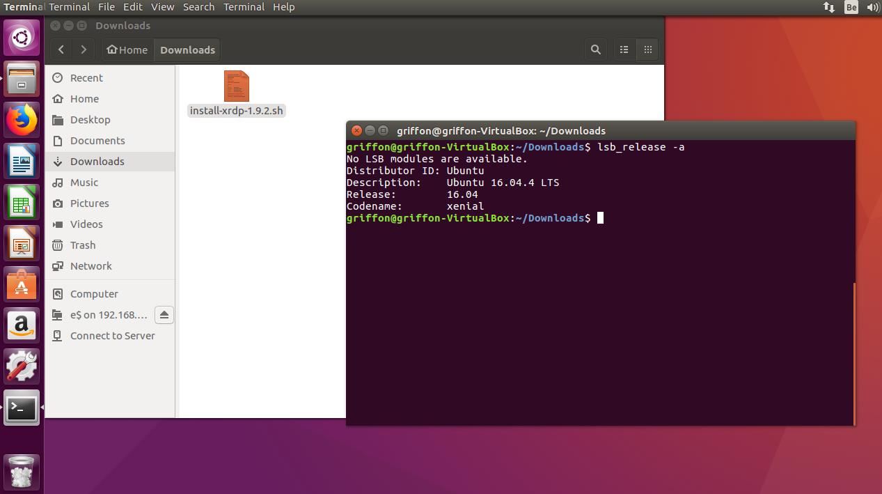 XRDP- HowTo Custom install on Ubuntu 16 04 x with Unity