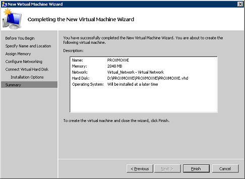 Proxmox VE as a virtual Machine in Hyper-V – Griffon's IT