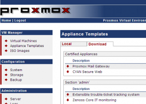Setup your proxmox ve infrastructure part 4 creating for Download openvz templates