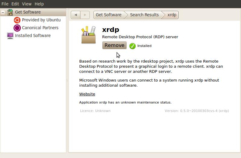 Remote Desktop Connection against Ubuntu 10 10 – Griffon's IT Library