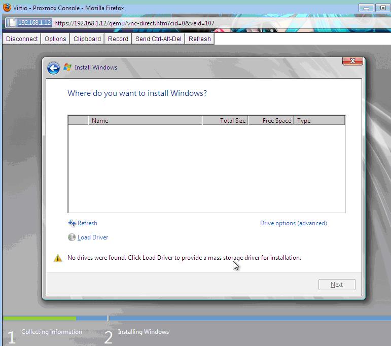 Proxmox VE – Manual Windows7/Windows 2008 R2 Installation with