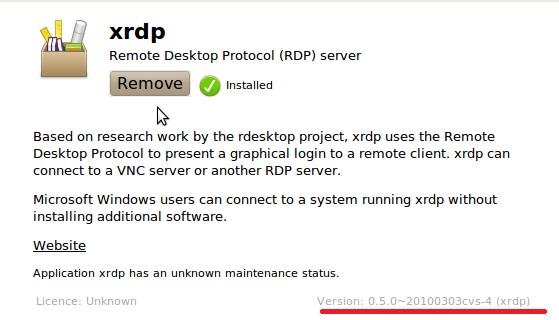 Remote Desktop Connection against Ubuntu 10 10 – Griffon's