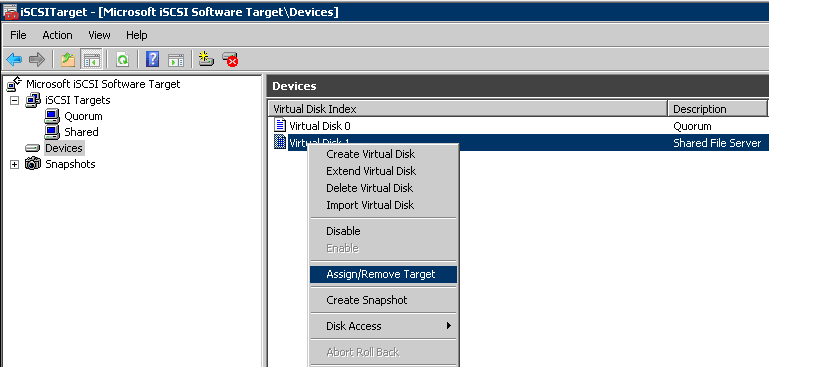 Convert Windows 2008R2 box into an ISCSI storage using (free) MS