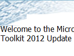 MDT 2012 Update 1 &#8211; Updating your Deployment infrastructure