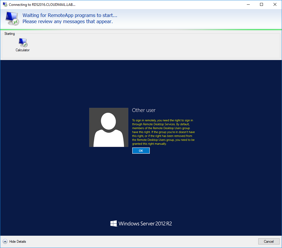 RDS 2012 R2 – Preventing Interactive Login – Griffon's IT