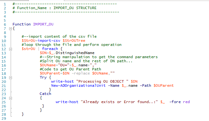 PowerShell Script – Active Directory Export and Import Tip