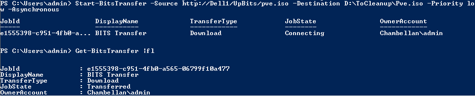 Using Powershell Cmdlet to transfer large files over (slow) networks