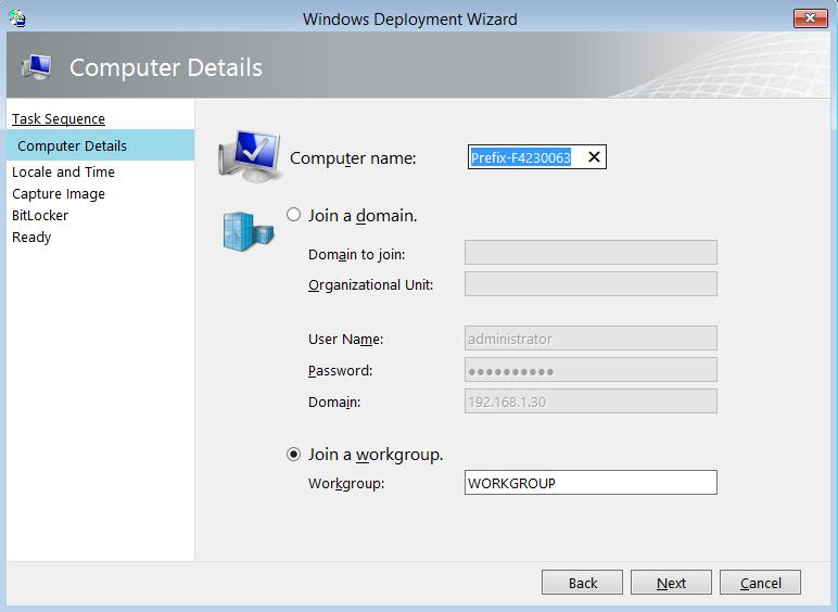 MDT 2012 PART VIII – Automatically Set computer Name – Griffon's IT