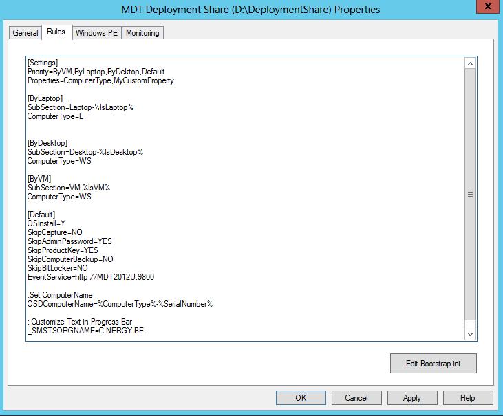 MDT 2012 PART VIII – Automatically Set computer Name