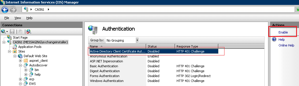Certificate-Based Authentication in Exchange 2010 – Part I