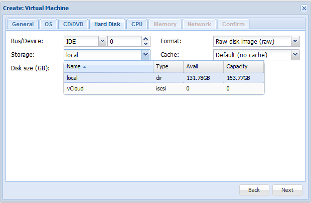 Proxmox VE 2 0 – Resize Virtual Disk of a Virtual machine