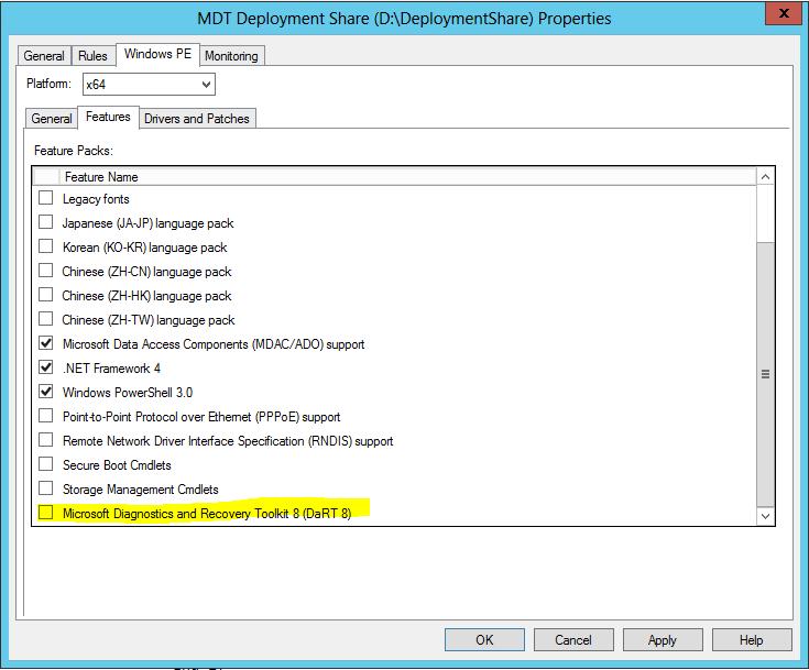 MDT 2013 – Deployment Monitoring through DaRT – Griffon's IT
