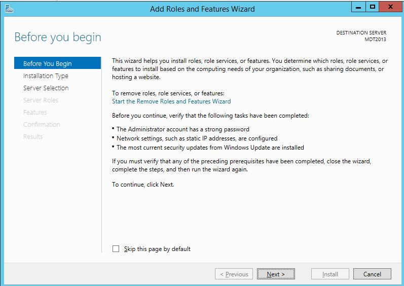 MDT 2013 – Standalone WDS in Windows 2012 R2 – Griffon's IT