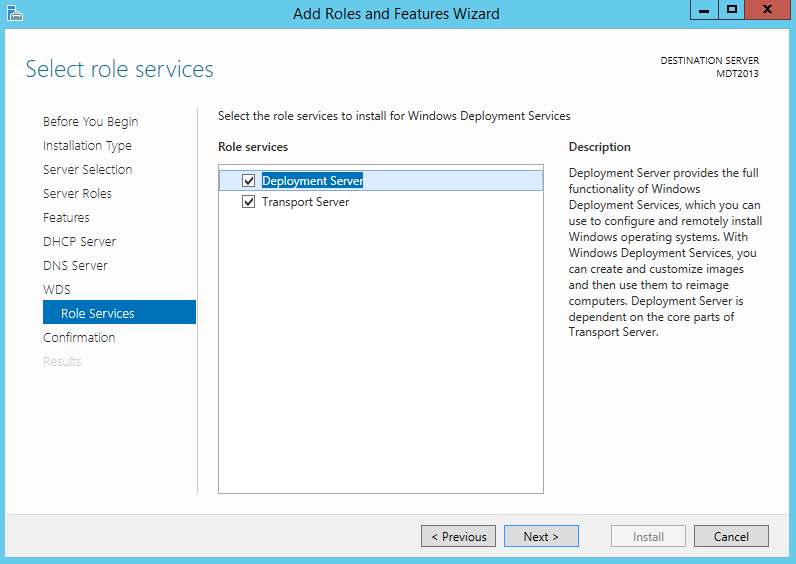MDT 2013 – Standalone WDS in Windows 2012 R2 – Griffon's IT Library