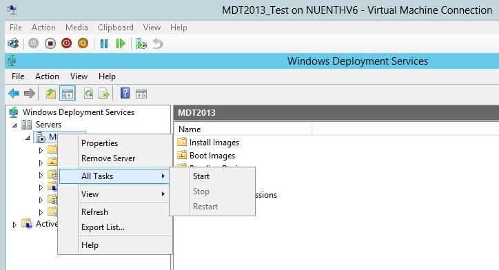 MDT 2013 – Standalone WDS in Windows 2012 R2 – Griffon's IT Library