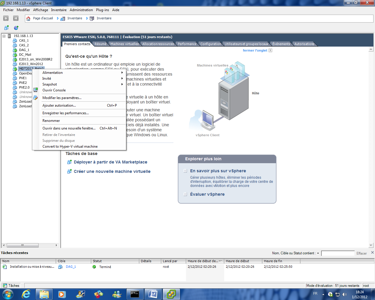 Migrate from Vmware to Hyper-V using MS Virtual Machine