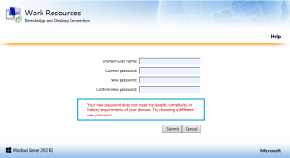 RDS – Allow users to reset expired password – Griffon's IT