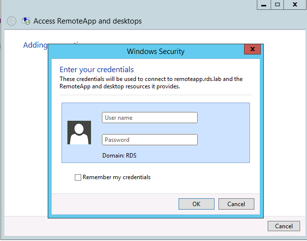 RDS – Accessing your RemoteApp – Part V – Griffon's IT Library