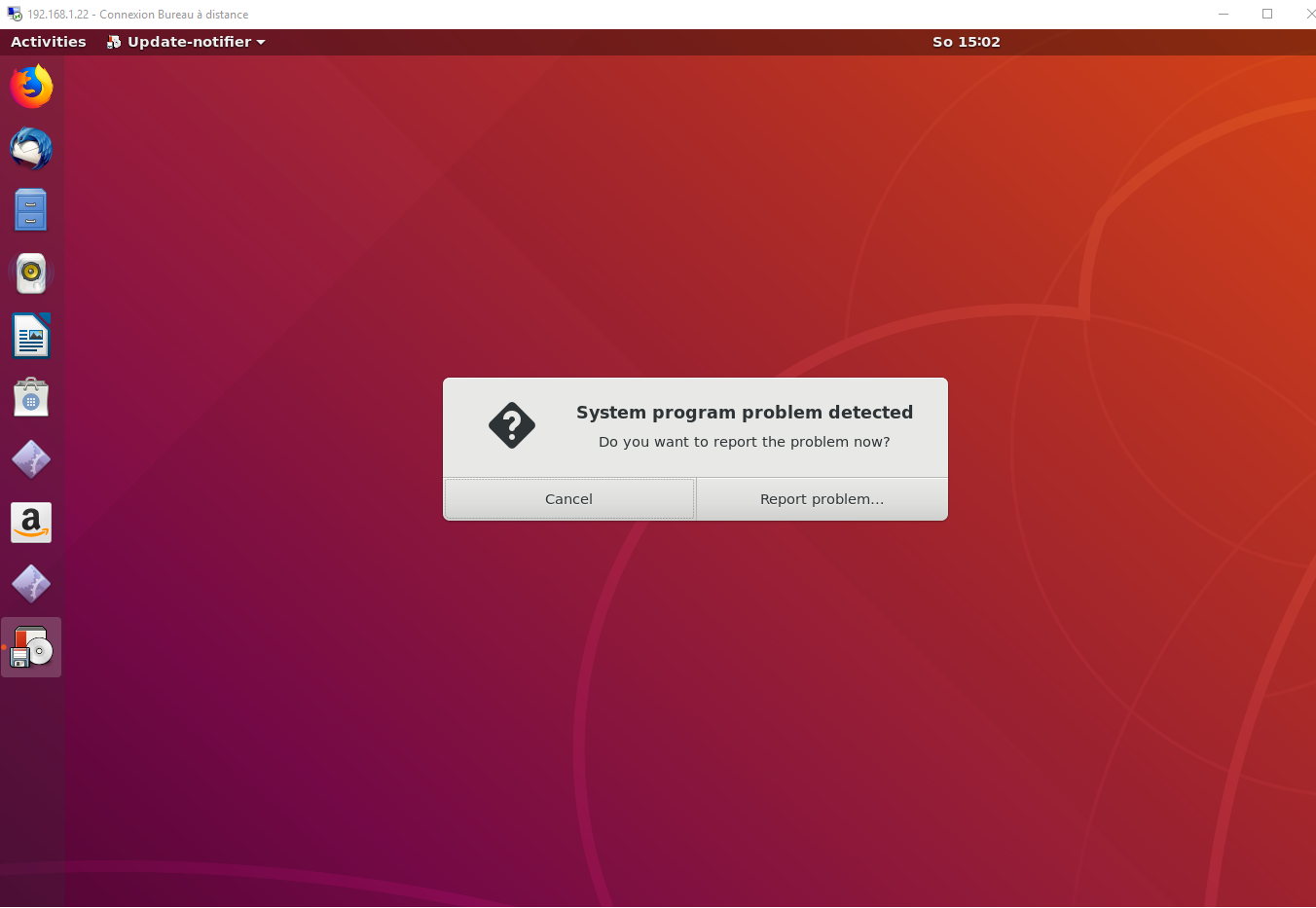 xRDP – How to Fix the Infamous system crash popups in Ubuntu