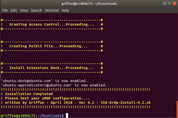 Ubuntu 18 04 – Install xRDP the easy way (Scripted
