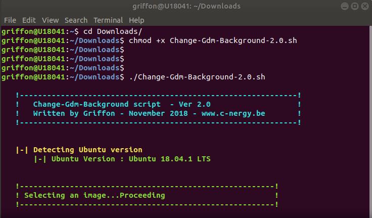 Ubuntu 18 10 – Change login Background – Updated Script – v2 0