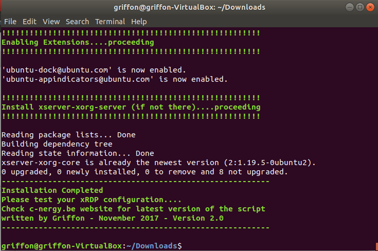 xRDP – How to perform a custom installation on Ubuntu 17 10