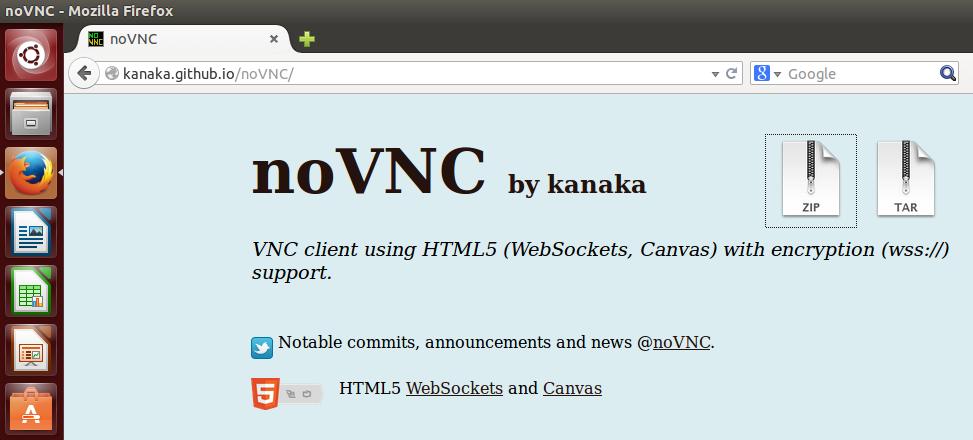 Ubuntu 14 10 – Connect to Unity Interface via Web vnc viewer client