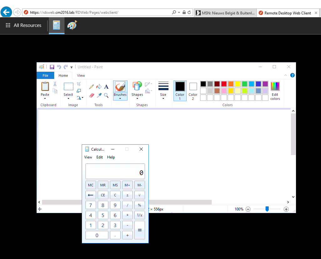 RDS 2016 – Preview HTML5 RDP Client for Remote Desktop