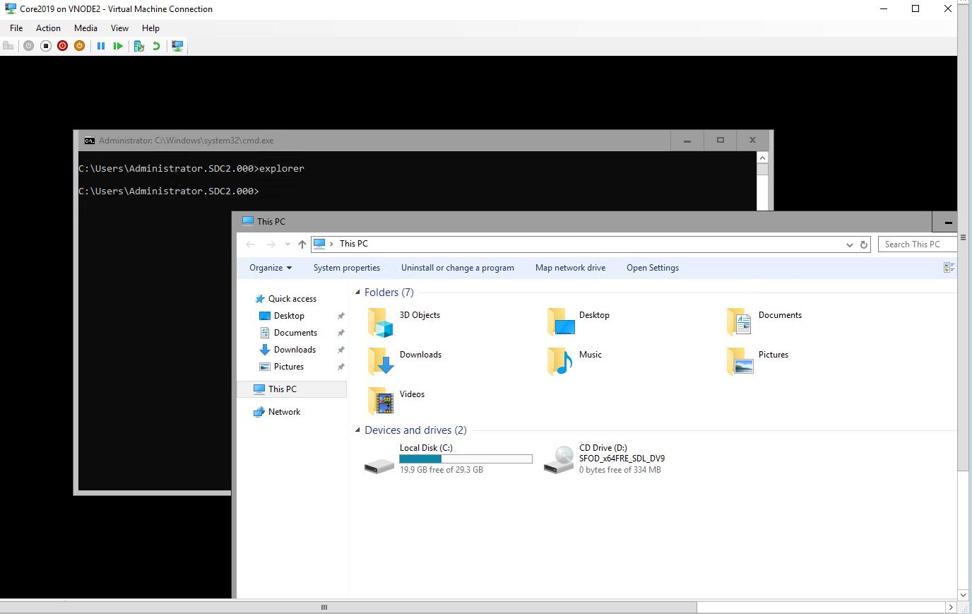 Windows 2019 – Feature on Demand Server Core App