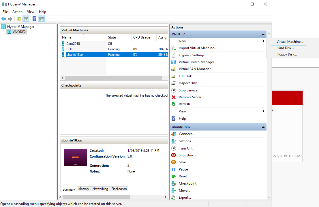 Ubuntu 18 10 – Creating an UEFI, Generation 2 Virtual