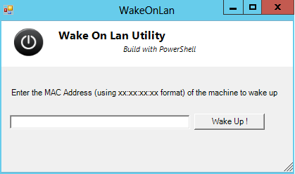 Powershell Script – Wake on LAN utility Ver 1 0 – Griffon's