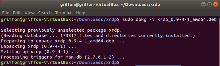 xRDP – Custom Installation with CheckInstall Method on
